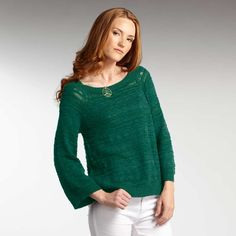fair trade, organic cotton Wave Pullover in emerald from @INDIGENOUS