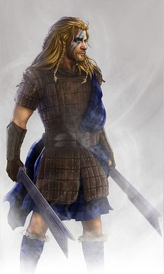 Fili. With woad. And a kilt. Meep!