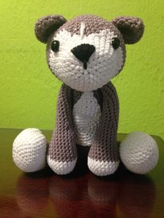 knitted cats/ kittens and animails on Pinterest Husky ...