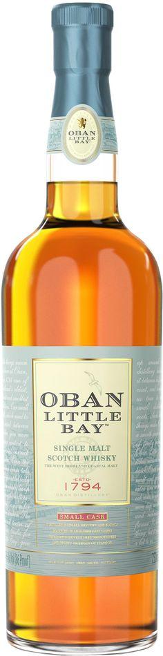Oban Little Bay Single Malt Scotch Whisky.  This single malt #Scotch #whisky was crafted by finishing mature Oban Single Malt in small casks. | @Caskers
