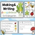 Making and Writing Spring Sentences for Kindergarten {vocab cards & sentence work}   Spring is almost here!  Spring learn to read centers for K...
