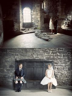 Doune Castle, Stirling. | 23 Incredible Places In Scotland Where You Can Get Married (I have been to Doune Castle. I even have a picture of my husband on that very bench. If we could have managed, we would have wed in Scotland. We settled for honeymooning there instead :) )