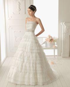 Ecru color wedding dresses