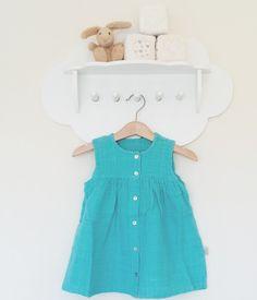 Poudre Organic - Turquoise Dress - BubbleChops - 1