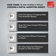 Ask yourself these questions to pick a digital agency that'll work for your business needs.  #digital #digitalagency #agencylife #DigitalMarketing #digitalmedia #business #consulting #digitalmarketingagency #businesstips #Businesses