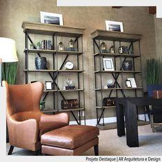 Não existe nada melhor que relaxar em uma poltrona assim após um longo dia de trabalho. Amamos esse ambiente de home office as estantes de ferro e madeira deram um toque especial a esse ambiente do AR Arquitetura e Design. Ad http://ift.tt/1U7uuvq arqdecoracao arqdecoracao @arquiteturadecoracao @acstudio.arquitetura  #arquiteturadecoracao #olioliteam #interiores #design #home #world #perfect #photooftheday #instago #decoracao #construcao #instadecor #architecture #instamood #arquiteta #love…