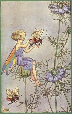 Fairy and friendly bee.