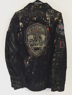 Skull Denim jacket from Chad Cherry Clothing.