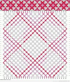 Patrón para hacer una pulsra de hilo con estampado de estrellas en degradado | Pulseras de Hilo | Todo para aprender a hacer pulseras de hilo con nudos