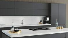 Kitchen Cabinets, Kitchen Appliances, Home Decor, Chic, Style, Modern Grey Kitchen, Countertop, Diy Kitchen Appliances, Shabby Chic