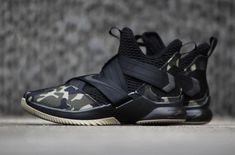 78653baec4e54 Closer Look At The Nike LeBron Soldier 12 SFG Camo