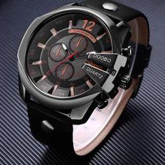 939a9de3df2 Relógio Masculino Big Dial Men Top Marca de Luxo Sports · Helena Carvalho ·  Wrist Watches - Relógios de pulso