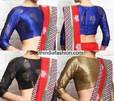 Boat Neck Blouse Designs: Top 10 Boat Neck Patterns – South India Fashion - b. Boat Neck Saree Blouse, Saree Blouse Neck Designs, Neckline Designs, Sari Blouse, Crop Blouse, Long Blouse, Saree Jackets, Formal Saree, Best Blouse Designs