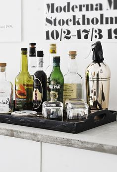 Drink tray for the home. Very modern look.
