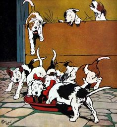 Illustration from The Cecil Aldin Painting Book, published 1915