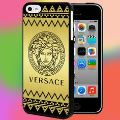CEVRON VERSACE GOLD for iPhone and samsung galaxy case hard plastic