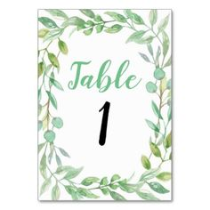 Table number Wedding Garden Party Rustic Cards - rustic gifts ideas customize personalize