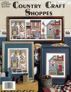 """Vintage Jeremiah Junction Cross Stitch Pattern """"Country Craft Shoppes""""  #JeremiahJunction"""
