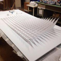New Geometric Paper Sculptures from Matthew Shlian