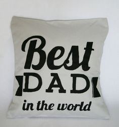 Best Dad decorative pillow cover by FennekArtDesign on Etsy