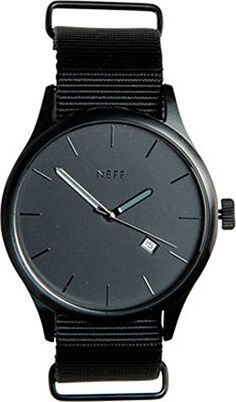 Neff Esteban Mens Designer Watch - Black/Grey / One Size Fits All. Stainless steel case and PU strap. Japanese Three-Hand movement with date. Water Resistant to 330 feet.