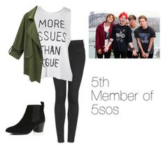 """5th Member of 5SOS! {this is my new series}"" by sweatshirt-irwin ❤ liked on Polyvore featuring Topshop and River Island"