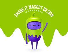 Share it mascot design