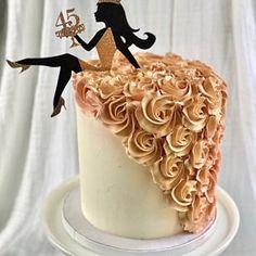 Diva Birthday Cakes, Elegant Birthday Cakes, Birthday Cakes For Women, Cakes For Ladies, Cake Decorating Techniques, Cake Decorating Tips, Diva Cakes, Letter Cake Toppers, Silhouette Cake