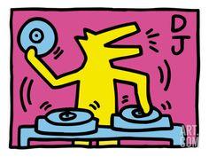 Pop Shop (DJ) Print by Keith Haring at Art.com