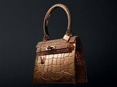 Golden bag by Hermes