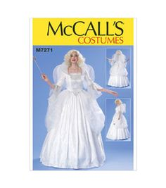 McCall's Pattern M7271-Boned Top, Full Skirt, Wings and Collar