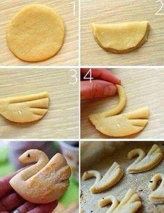 Biscoito cisne.
