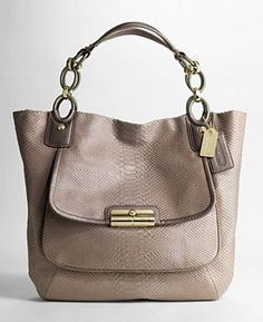 Coach Kristin Embossed Python Tote
