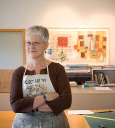 Karen Kunc (photograph by David Dale) Karen Kunc was born in Omaha, NE in 1952. She received her B.F.A. from the University of Nebraska-Lincoln where she has taught since 1983. She is a printmaker, usingcolour  woodcuts.