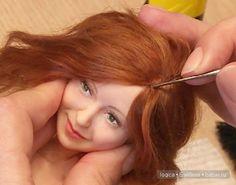 Добрый день! Сегодня я приоткрою небольшую завесу моего видео МК «Как создать классическую куклу» и покажу на картинках, как приклеиваю