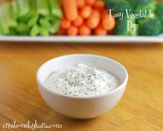 Easy recipe for Vegetable Dip with Dill.  (My note:This one is good!)