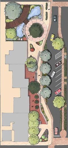 40 New Ideas Landscaping Architecture Masterplan Photoshop Landscape Architecture Drawing, Landscape Sketch, Modern Landscape Design, Garden Landscape Design, Landscape Drawings, Modern Landscaping, Cool Landscapes, Urban Landscape, Landscaping Design