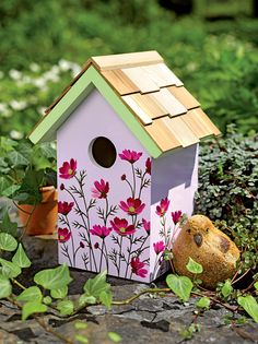 Floral Print Birdhouse - Decorative and Functional | Gardeners.com