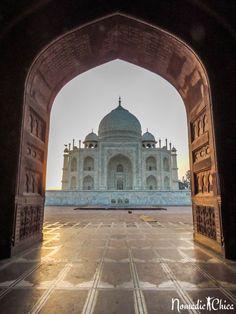 Taj Mahal http://www.nomadicchica.com/india-agra-beautiful-taj-mahal/