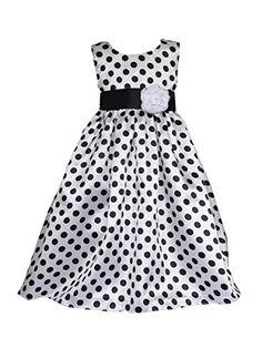 Pink Girl Dresses Sleeveless Polka Flower Girl Dress: Amazon.co.uk: Clothing
