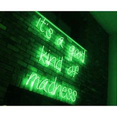 Is there any other kind? neon lights dark green aesthetic, g