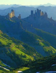 0217 The Castles, West Elk Wild. | West Elk Wilderness near Crested Butte