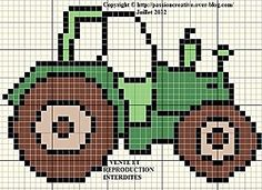 Traktor The Effective Pictures We Offer You About stricken kissenbezug A quality picture can tell yo Crochet Pixel, Crochet Cross, Crochet Chart, Kids Knitting Patterns, Knitting Charts, Crochet Patterns, Cross Stitch Designs, Cross Stitch Patterns, Cross Stitching