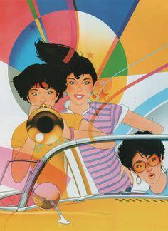 "palmandlaser: ""Yukio Kitta, from JCA Annual 5 "" Japanese Illustration, Illustration Art, 1980s Art, Vaporwave Art, Japanese Graphic Design, Retro Pop, Airbrush Art, Classical Art, Retro Futurism"