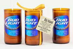 Bud Light Beer Unique Candle Gift