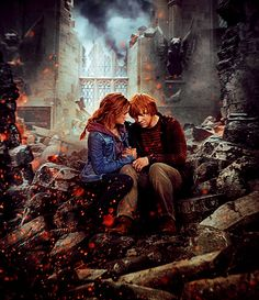 If the world falls down around us, I'll still have you  hermoine and ron love