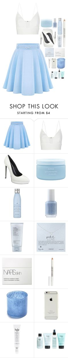 """81. when you are not here i'm suffocating"" by afchuuy ❤ liked on Polyvore featuring Narciso Rodriguez, Yves Saint Laurent, Aveda, Drybar, Essie, Estée Lauder, Dogeared, NARS Cosmetics, Lord & Berry and Sur La Table"