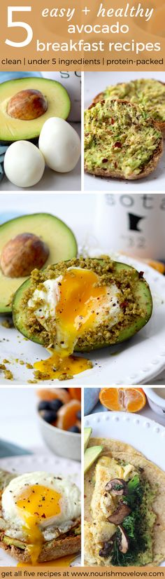 5 Easy + Healthy Avocado Breakfast Recipes | www.nourishmovelove.com