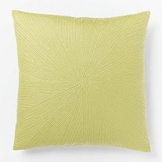 Embroidered Starburst Pillow Cover - Leek #westelm    $29.99 on sale