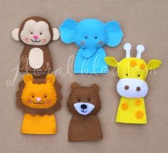 Zoo Friends Felt Finger Puppets | Craftsy